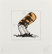 Claes Oldenburg (b. 1929) Butt for Gantt, from Harvey Gantt Portfolio, 1990 Lithograph in