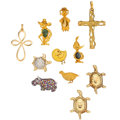 Estate Jewelry:Lots, Multi-Stone Diamond, Enamel, Gold Jewelry. ... (Total: 11 Items)