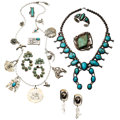 Estate Jewelry:Lots, Turquoise, Sterling Silver, Silver Jewelry. ... (Total: 8 Items)