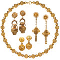 Estate Jewelry:Lots, Gold Jewelry. ... (Total: 4 Items)