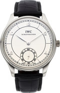 "Timepieces:Wristwatch, IWC Fine Platinum ""Vintage Collection"" Limited Edition PortugueseNo. 053/500. ..."