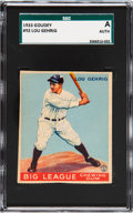 Baseball Cards:Singles (1930-1939), 1933 Goudey Lou Gehrig #92 U.S. Patent/Copyright Card SGCAuthentic. ...