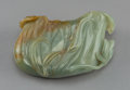 Other, A Chinese Celadon Jade Lotus Leaf-Form Washer, 19th Century. 4-1/4 d inches wide (10.7 cm). ...