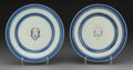 Asian:China Trade, Two Chinese Export Armorial Porcelain Plates, Qing Dynasty, late 18th-early 19th century. 9-5/8 inches diameter (24.4 cm). ... (Total: 2 Items)