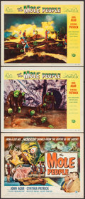 """Movie Posters:Science Fiction, The Mole People (Universal International, 1956). Title Card &Lobby Cards (2) (11"""" X 14"""") Reynold Brown Artwork. Science Fic...(Total: 3 Items)"""