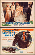 "Movie Posters:Western, Under Montana Skies (Tiffany, 1930). Title Lobby Card & Lobby Card (11"" X 14""). Western.. ... (Total: 2 Items)"