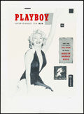 Movie Posters:Miscellaneous, Marilyn Monroe Playboy Cover (Special Editions Limited, 1991). Rolled, Very Fine+. Autographed and Numbered Limited Edition ...