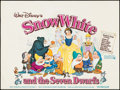 """Movie Posters:Animation, Snow White and the Seven Dwarfs (Walt Disney Productions, R-1975).British Quad (30"""" X 40""""). Animation.. ..."""
