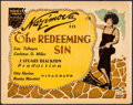 "Movie Posters:Drama, The Redeeming Sin (Vitagraph, 1925). Title Lobby Card (11"" X 14"").Drama.. ..."
