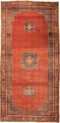 Rugs & Textiles:Carpets, A Khotan Carpet, Eastern Turkestan, early 19th century. 10 feet 11inches long x 5 feet 6-1/2 inches wide (332.7 x 168.9 cm)...