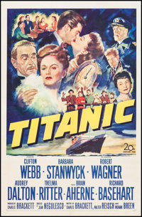 "Titanic (20th Century Fox, 1953). One Sheet (27"" X 41""). Drama"