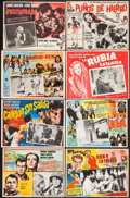 "Movie Posters:War, Kings Go Forth & Others Lot (United Artists, 1958). MexicanLobby Cards (23) (11"" X 13.25"" - 12.75"" X 17""). War.. ... (Total:23 Items)"