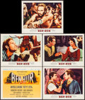 "Movie Posters:Academy Award Winners, Ben-Hur (MGM, 1959). Title Lobby Card & Lobby Cards (4) (11"" X 14"") Joseph Smith Artwork. Academy Award Winners.. ... (Total: 5 Items)"
