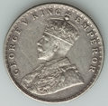 India:British India, India: British India. George V Mint Error Rupee ND (1911-1936) XF - Surface Hairlines,...