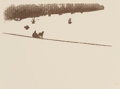 Photographs, Ward Muir (British, 1878-1927). Silhouette Photograph of Horse and Sled, Camera Work #3, July, circa 1903. Halftone. 2-5...