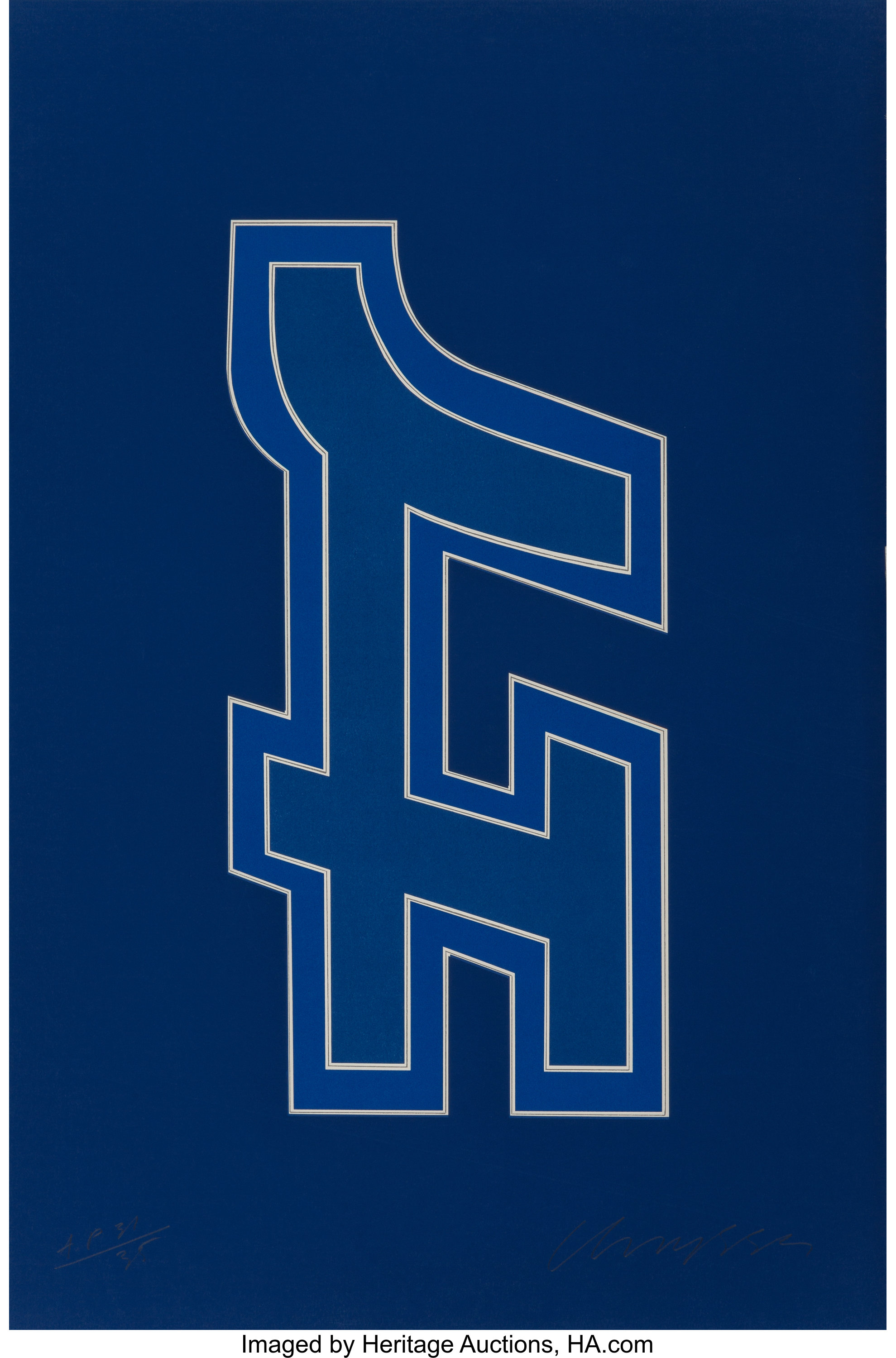Chryssa (1933-2013)  Time Square Fragment #9, 1979
