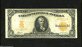 Large Size:Gold Certificates, Fr. 1169a $10 1907 Gold Certificate Fine-Very Fine. The vibrant orange back and snappy paper are disaffected by two closed p...