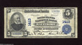 National Bank Notes:Maryland, Baltimore, MD - $5 1902 Plain Back Fr. 606 The Merchants NB Ch. #1413 This colorful note has strong stamped signature...