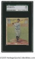 Baseball Cards:Singles (1930-1939), 1933 Goudey Babe Ruth #144 SGC Poor 10. Respectable example of thisessential card. Writing on verso....