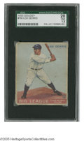 Baseball Cards:Singles (1930-1939), 1933 Goudey Lou Gehrig #160 SGC Fair 20. Respectable example ofthis important card....