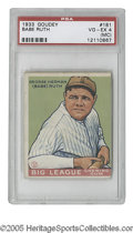 Baseball Cards:Singles (1930-1939), 1933 Goudey Babe Ruth #144 PSA VG 3. The definitive Ruth card, with just the typical wear, but perfect centering and strong...