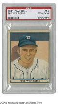 Baseball Cards:Singles (1940-1949), 1941 Play Ball Pee Wee Reese #54 PSA VG-EX 4. Fine Hall of Famecard from this tough set....