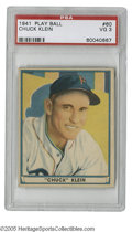 Baseball Cards:Singles (1940-1949), 1941 Play Ball Chuck Klein #60 PSA VG 3. Fine Hall of Fame cardfrom this tough set....