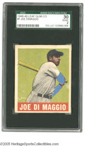 Baseball Cards:Singles (1940-1949), 1948-49 Leaf Joe DiMaggio #1 SGC Good 30. Nice example of this important card....