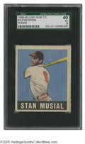 Baseball Cards:Singles (1940-1949), 1948-49 Leaf Stan Musial #4 SGC VG 40. Nice example of this important card....