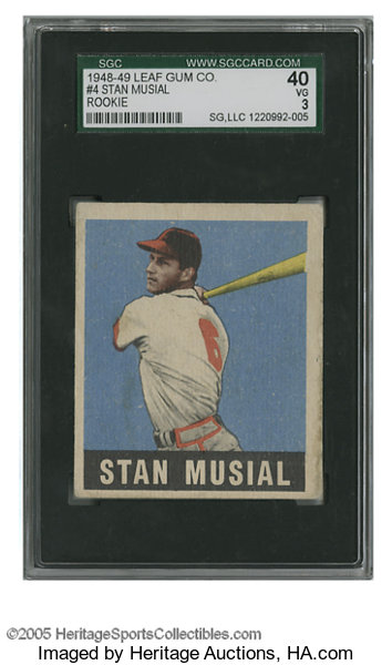 1948 49 Leaf Stan Musial 4 Sgc Vg 40 Nice Example Of This Lot