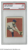 Baseball Cards:Singles (1940-1949), 1949 Bowman Pee Wee Reese #36 PSA EX 5. Fine Hall of Fame card from this tough set....