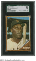 Baseball Cards:Singles (1960-1969), 1962 Topps Willie McCovey #544 SGC NM+ 86. Strong example of thisimportant card....