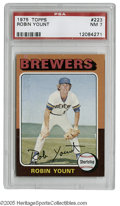 Baseball Cards:Singles (1970-Now), 1975 Topps Robin Yount #223 PSA NM 7. Strong specimen of thisimportant card....