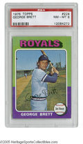 Baseball Cards:Singles (1970-Now), 1975 Topps George Brett #228 PSA NM-MT 8. Strong specimen of this important rookie card....