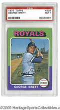 Baseball Cards:Singles (1970-Now), 1975 Topps George Brett #228 PSA NM 7. Strong example of thisimportant card....