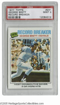 Baseball Cards:Singles (1970-Now), 1977 Topps George Brett #231 PSA Mint 9. Strong specimen of thisimportant card....