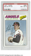 Baseball Cards:Singles (1970-Now), 1977 Topps Nolan Ryan #650 PSA NM-MT 8. Strong specimen of thisimportant card....