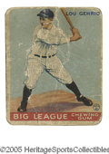 Baseball Cards:Singles (1930-1939), 1933 Goudey Lou Gehrig #92. Poor example of this important card.Note that card was once torn in half and put back togethe...