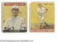 Baseball Cards:Lots, 1933 Goudey Hall of Famers Lot of 2. Sport Kings Ty Cobb #1 andGoudey Jimmie Foxx #29. Fair to Good condition....