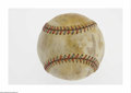 Autographs:Baseballs, 1931 New York Yankees Team Signed Baseball. Flood damage has robbedthis important ball of most of its beauty, leaving dark...