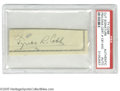 Autographs:Others, Ty Cobb Cut Signature. Perfect black ink signature was clipped froma personal check. LOA from Steve Grad & Zach Rullo/ ...
