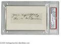 Autographs:Index Cards, Bill McGowan Cut Signature. Perfect black ink signature is clipped from some form of correspondence and affixed to the unli...