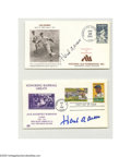 Autographs:Others, Hank Aaron Signed First Day Covers Lot of 4. Signatures all NRMT orbetter. LOA from Steve Grad & Zach Rullo/ PSA DNA....