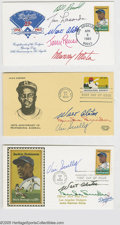 Autographs:Others, Dodgers Signed First Day Covers Lot of 3. Includes signatures fromAlston, Lasorda, Snider, Scully and more. NRMT. LOA f...