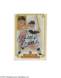 "Autographs:Post Cards, Mickey Mantle Signed Perez-Steele Card. Perfect blue sharpie signature on card number ""50"" of the Donruss Grand Champion Pe..."