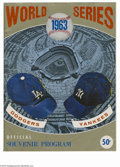 Baseball Collectibles:Programs, 1963 World Series Program. Light wear at edges, otherwise very strong. Unscored....