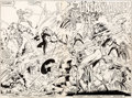 Original Comic Art:Splash Pages, Marc Silvestri and Joe Rubinstein The X-Men vs. the Avengers#2 Splash Pages 2-3 Original Art (Marvel, 1987)....