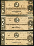 Confederate Notes, T70 $2 1864 PF-5 Cr. 567 Three Examples.. ... (Total: 3 notes)