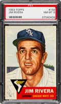 Baseball Cards:Singles (1950-1959), 1953 Topps Jim Rivera #156 PSA NM-MT 8....