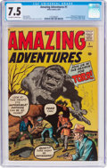 Silver Age (1956-1969):Horror, Amazing Adventures #1 (Marvel, 1961) CGC VF- 7.5 Off-white to whitepages....